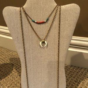 Stella & Dot Vintage Gold Necklace
